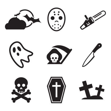 iconos: Iconos del horror Vectores