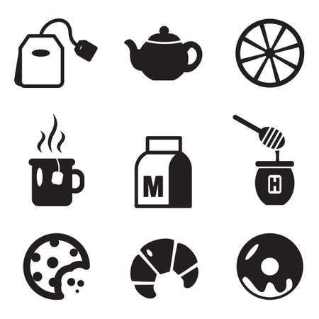 tea set: Tea Icons