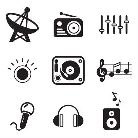 microfono de radio: Radio Station Iconos