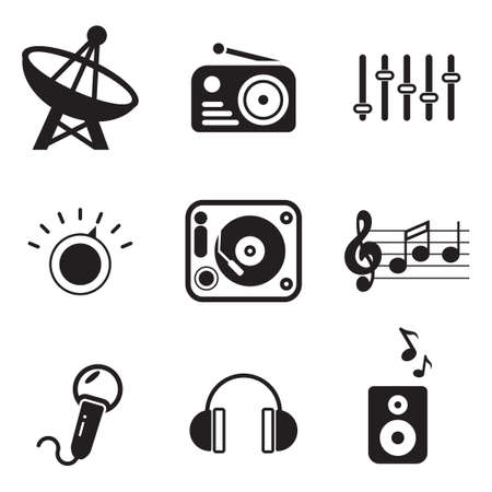vintage radio: Radio Station Icons