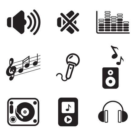 audio: Audio Icons Stock Illustratie