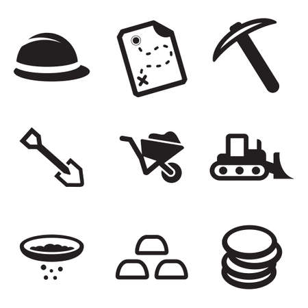 dust pan: Gold Rush Icons