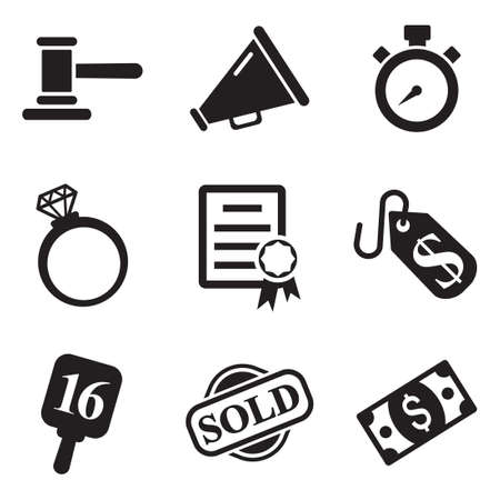 auction gavel: Auction Icons