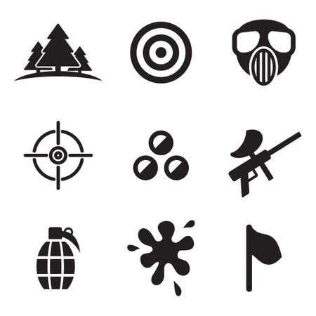wojenne: Ikony paintball Ilustracja