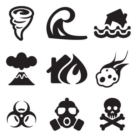 Armageddon Icons Illustration