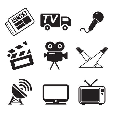TV Station Icons Stok Fotoğraf - 47121284