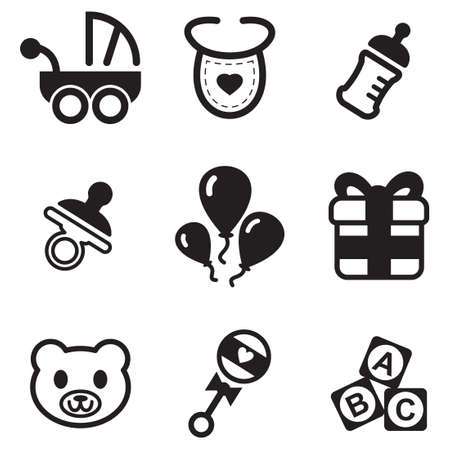 black baby boy: Baby Shower Icons