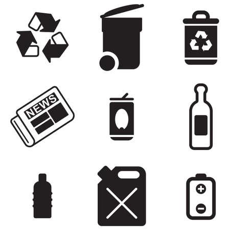 botes de basura: Reciclaje de iconos