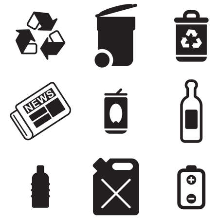 trash can: Recycling Icons