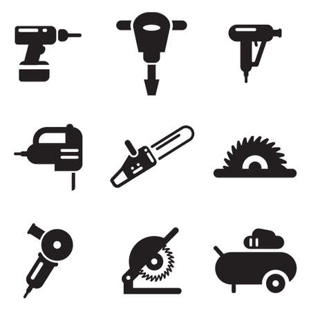 construction nails: Power Tools Icons