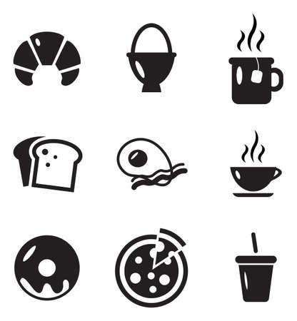 bolsa de pan: Desayuno Iconos