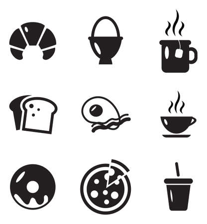 tranches de pain: Petit déjeuner Icônes