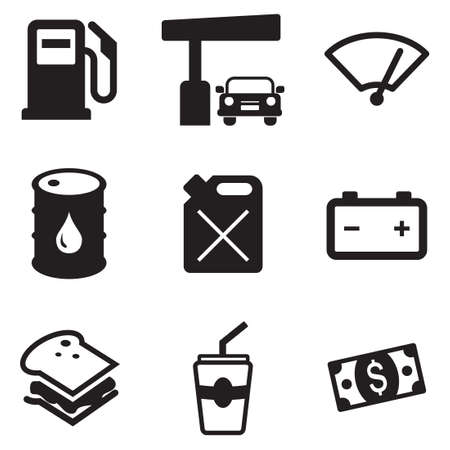 car drawing: Gas Pump Icons