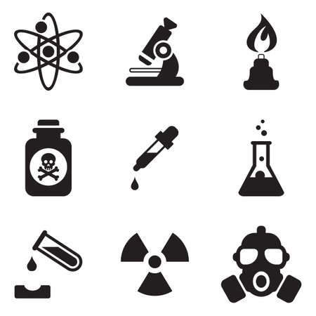 separating funnel: Chemistry icons