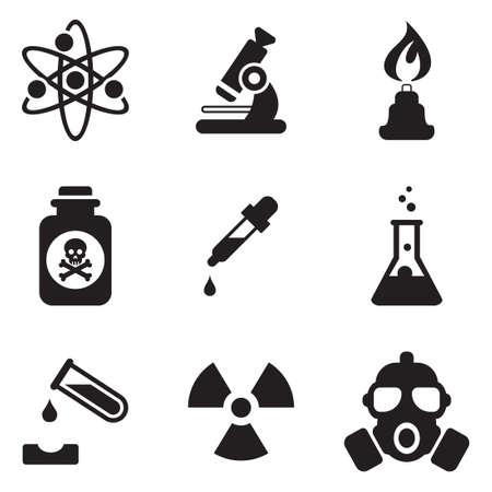 tubo de ensayo: Iconos Química