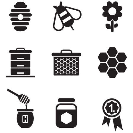 black and white flowers: Honey Icons