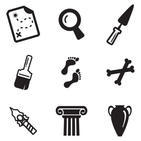 ancient greek: Archeology Icons Illustration