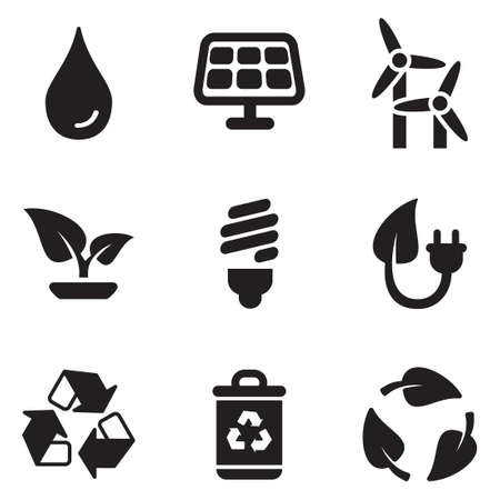 save the planet: Green Energy Icons