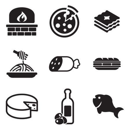 Italian Food Icons