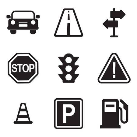 Icônes de trafic Banque d'images - 47307572