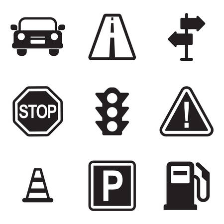 green sign: Traffic Icons
