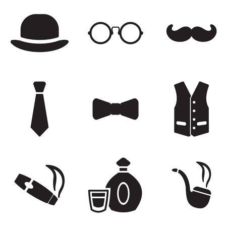 hair bow: Gentleman Icons