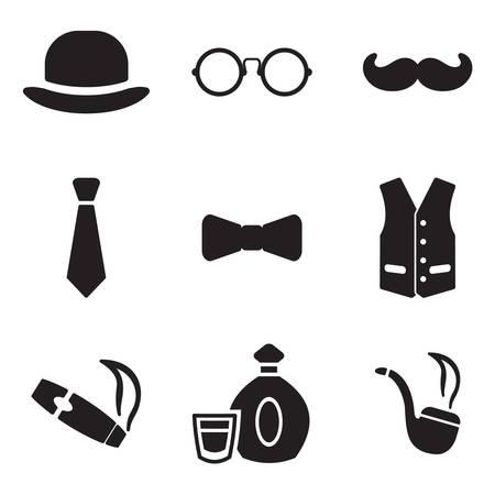 Icone Gentleman Archivio Fotografico - 47307686
