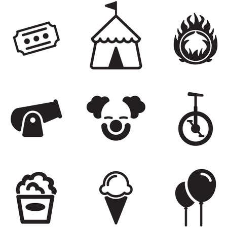 payaso: circo Iconos