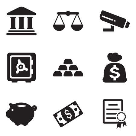 budget: Bank Icons Illustration