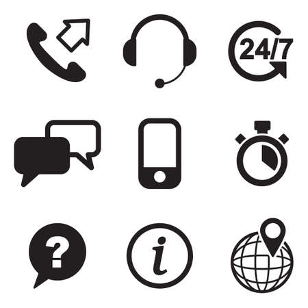phone service: Customer Service Icons