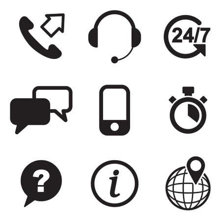Ikony Obsługi Klienta Ilustracje wektorowe