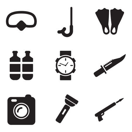 Diving Gear Icons