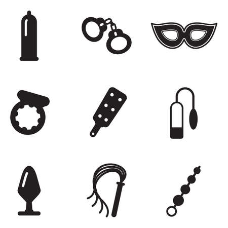 sex activity: Adult Sex Toys Icons
