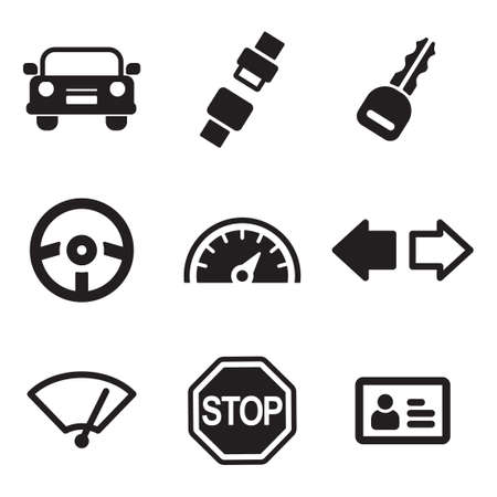 Driving School Icons
