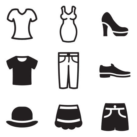 Clothes Icons Stockfoto - 47312605