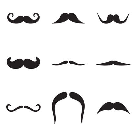 masculinity: Mustache Icons