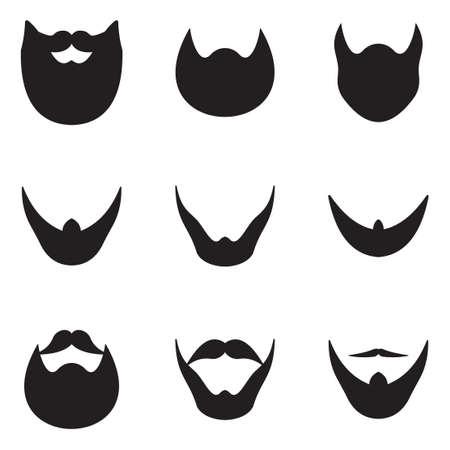 hair mask: Beard Icons Illustration