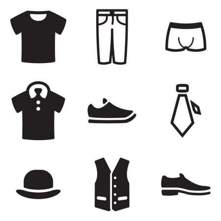 white clothes: Mens Clothing Icons