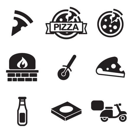 Pizza Icônes Banque d'images - 47313408