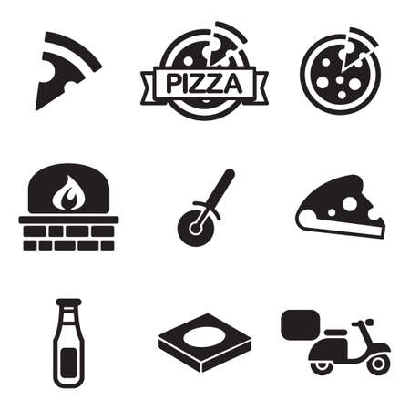 pizza cutter: Pizza Icons