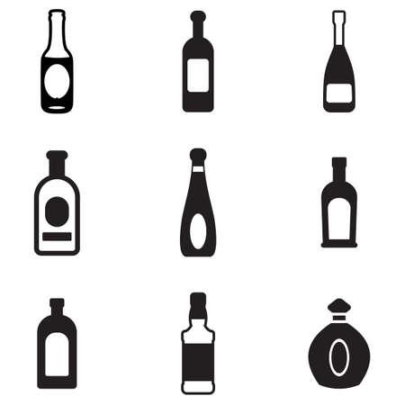 carbonated beverage: Bottle Icons