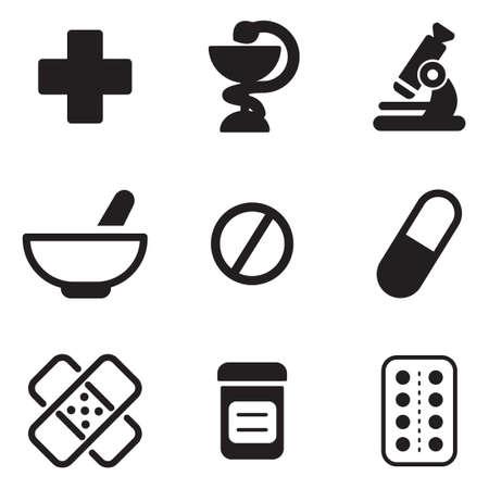 farmacia: Farmacia Iconos Vectores