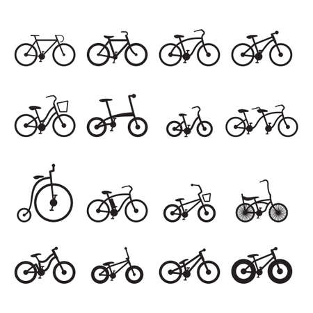 cruiser bike: Bicycle Icons