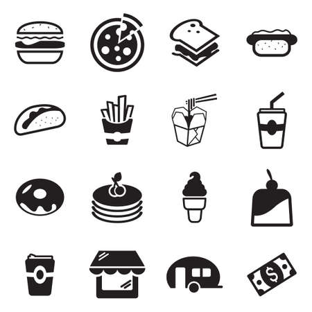 cake slice: Fast Food Restaurant Icons