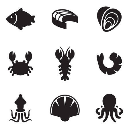 oyster: Seafood Icons