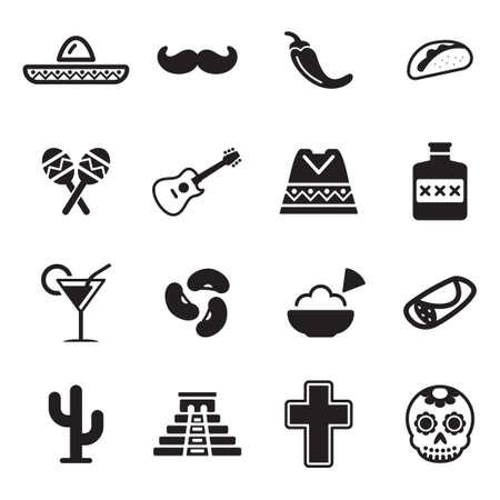 Mexican Culture Icons 版權商用圖片 - 47313613