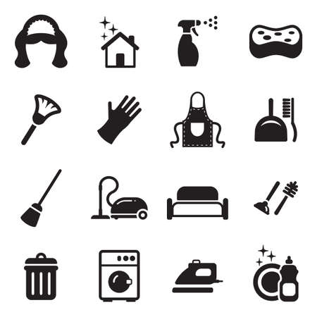 cleaning service: Maid Icons