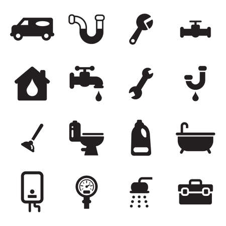 toilet icon: Plumbing Icons