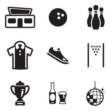 Bowling Icons  イラスト・ベクター素材