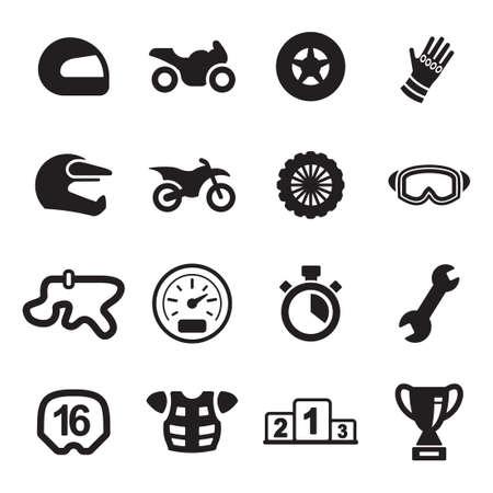 オートバイ レースのアイコン  イラスト・ベクター素材